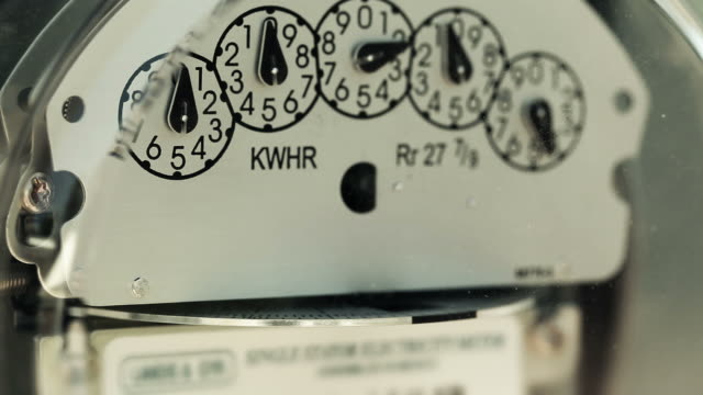 Electricity Meter (Loopable)  power supply stock videos & royalty-free footage