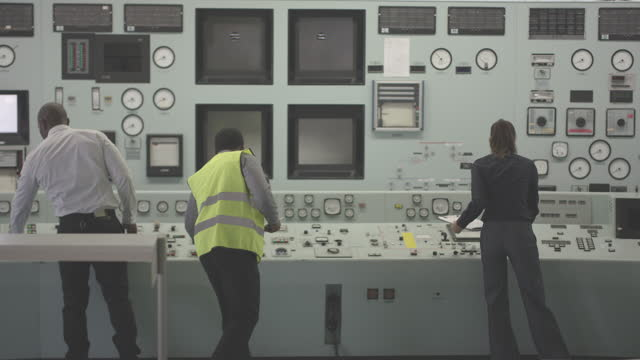 Electricity Nuclear Power Station and Staff Electricity Nuclear Power Station and Staff power supply stock videos & royalty-free footage