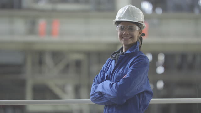 Electricity Nuclear Power Station Staff Portrait video