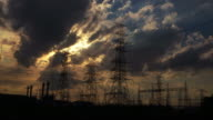 istock Electricity power station at a sunset 543766644