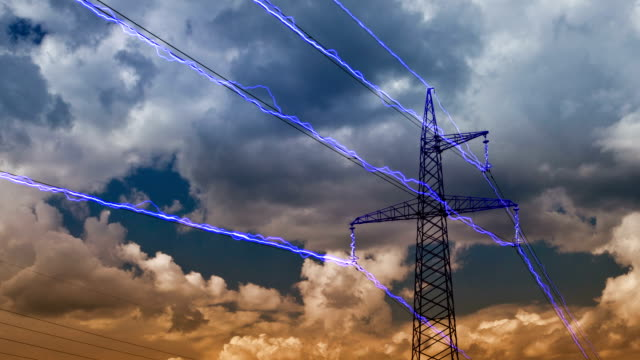 electricity pylon - böjd bildbanksvideor och videomaterial från bakom kulisserna