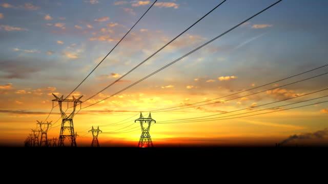 vidéos et rushes de pylônes électriques. - électricité