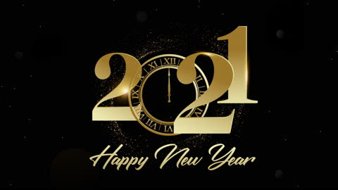 Elegant animated 4K Happy New Year 2021 gold color greeting on a black background. Golden particles and sparkles with a Clock tick. Bokeh lights. 3D glowing dust trail. Xmas 2021. Elegant animated 4K Happy New Year 2021 gold color greeting on a black background. Golden particles and sparkles with a Clock tick. Bokeh lights. 3D glowing dust trail. Xmas 2021. happy new year stock videos & royalty-free footage