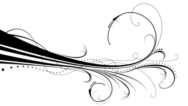 Elegant Flourishes X4 - Design Pack 1 Black on White video