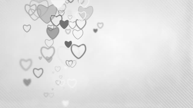 Elegant Hearts Background Loop - Pastel Grey (Full HD) video