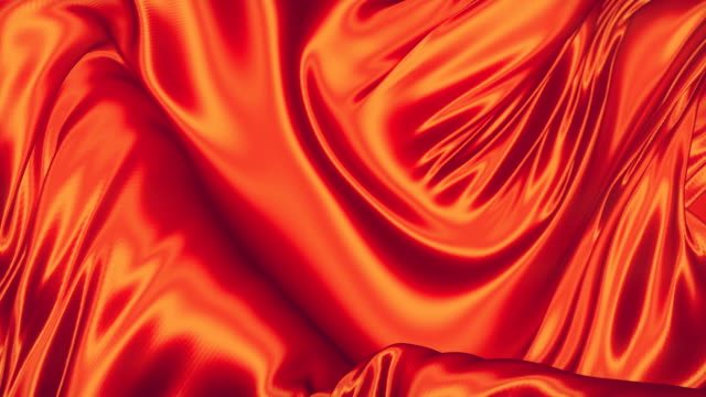Elegant shiny red metallic cloth background. Modern animation for decoration design. 3d rendering. 4K, Ultra HD resolution