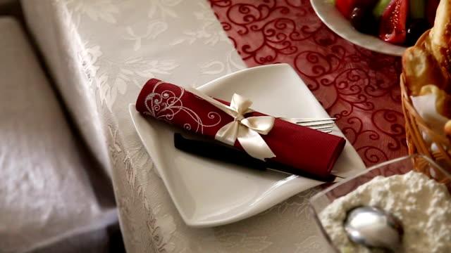 elegant table setting - passenger craft stock videos & royalty-free footage