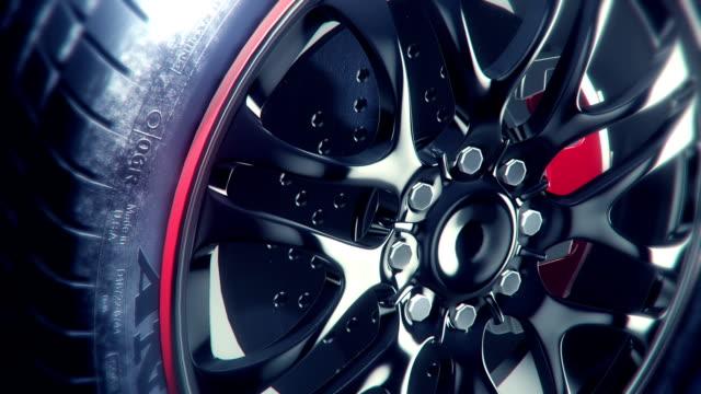 elegant wheel rim closeup angle-02 - på gränsen bildbanksvideor och videomaterial från bakom kulisserna