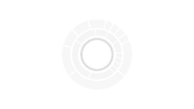HUD element of loading circle. futuristic loading pending screen. motion graphic