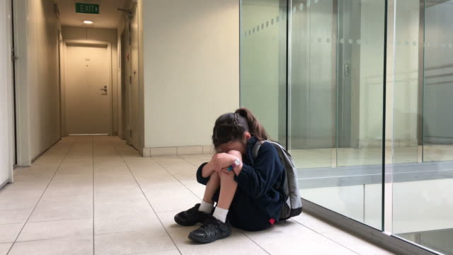 Elementary school girl crying video