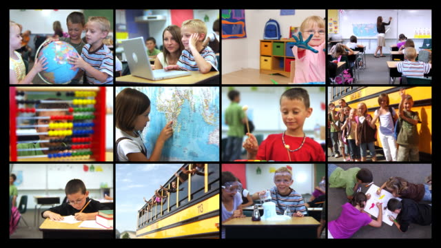 Elementary school video montage video