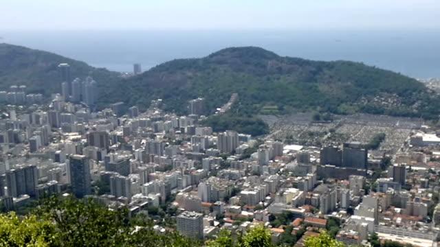 Elevated panoramic view of Rio de Janeiro, Brazil video