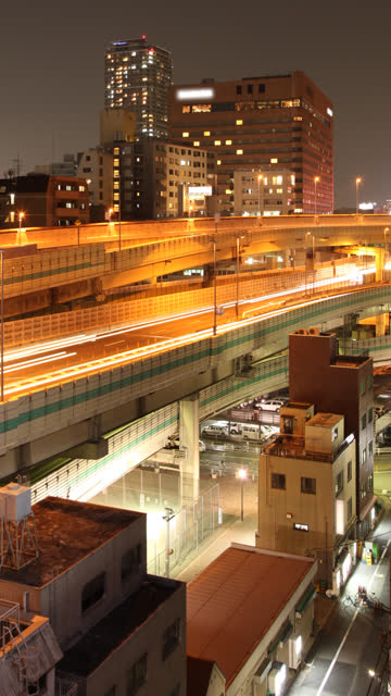 elevated road time lapse vertical - vertical format video stock videos and b-roll footage