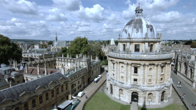 Elevated shot of central Oxford University video