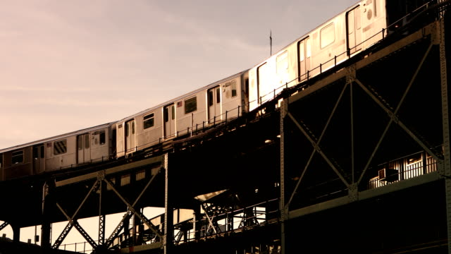 Elevated Subway Train video