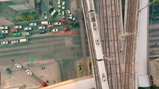 Elevated train and Railroad Track from above video