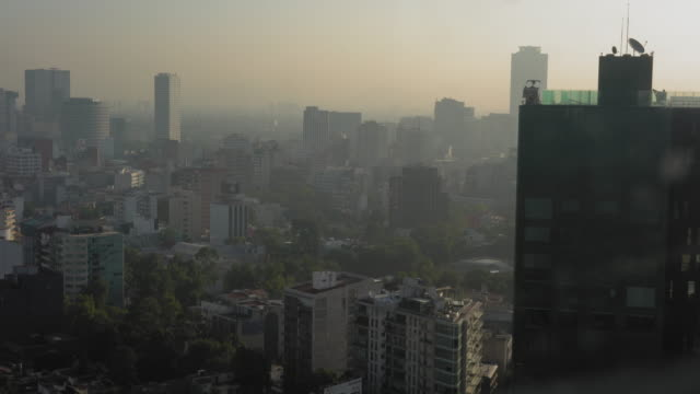 Elevated view of cityscape, Mexico video