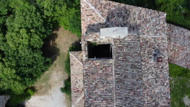 Elevation above a church of Faraone Vecchio, Abruzzo