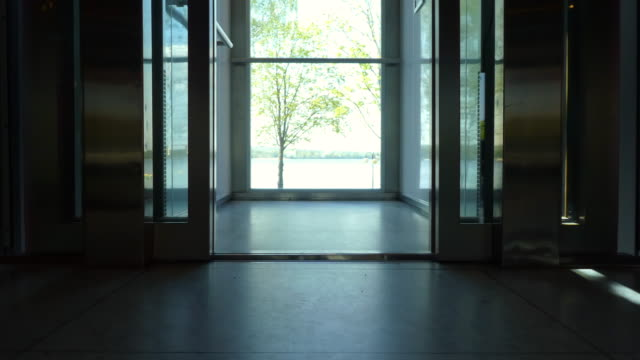 Elevator doors (with a view) - open and close. The elevator doors (with a beautiful view) open and close. door stock videos & royalty-free footage
