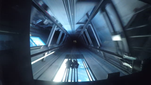 elevator going up - ascensore video stock e b–roll