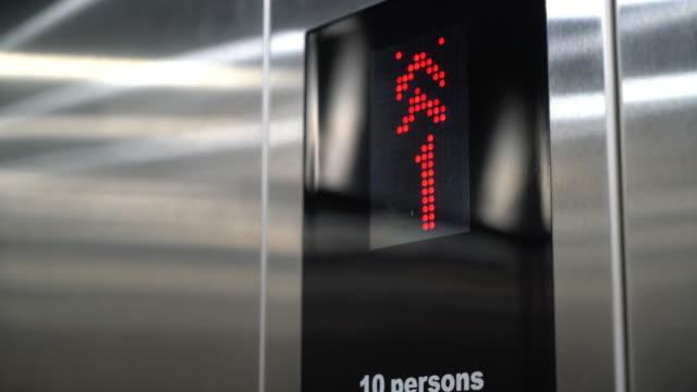 elevator number - ascensore video stock e b–roll
