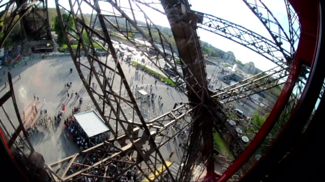 Elevator Ride To the Top of Eiffel Tower, Paris