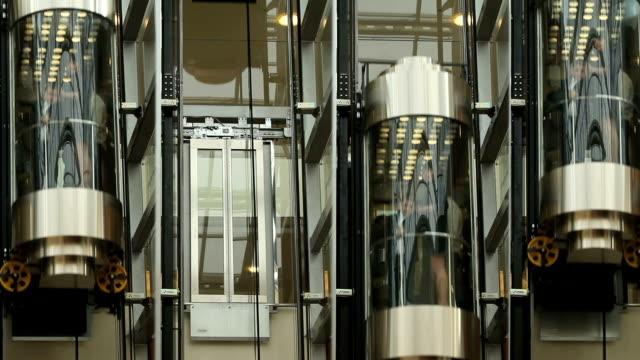 ascensori - ascensore video stock e b–roll