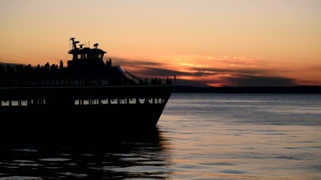 elliott bay - turistbåt bildbanksvideor och videomaterial från bakom kulisserna