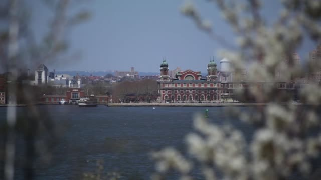Ellis Island Beyond Trees NYC