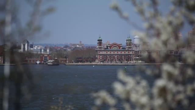 Ellis Island Beyond Trees NYC