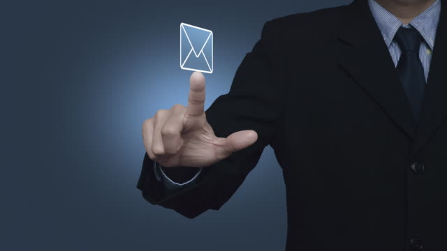 email flat icon, business contact us online concept - e mail filmów i materiałów b-roll
