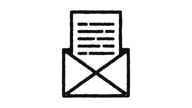 Email Icon Animation Footage & Alpha Channel