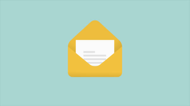 E-Mail Icons - Flat Animate stock video