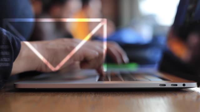 e-postmarknadsföring - skicka aktivitet bildbanksvideor och videomaterial från bakom kulisserna