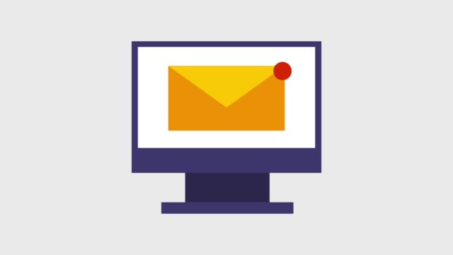 email message envelope icons email message envelope on computer screen icons animation design e mail stock videos & royalty-free footage