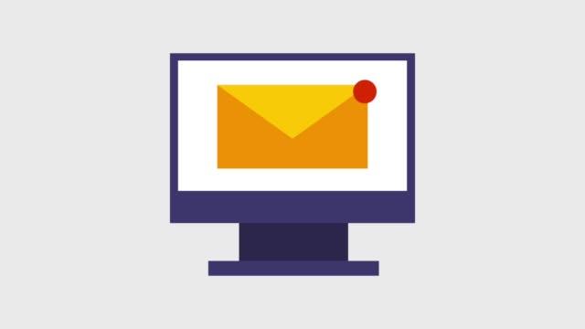 e-mail-nachricht umschlag symbole - e mail stock-videos und b-roll-filmmaterial