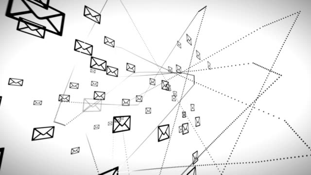 Email network animation video