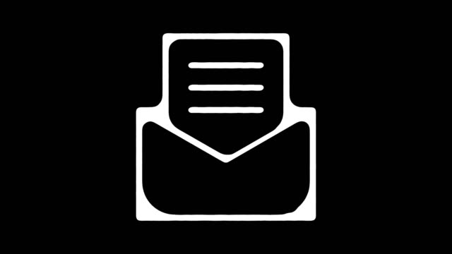 Email Newsletter Hand Drawn Line Animation with Alpha
