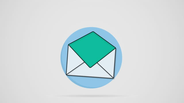 Email newsletter Megaphone coming out from an envelope megaphone stock videos & royalty-free footage