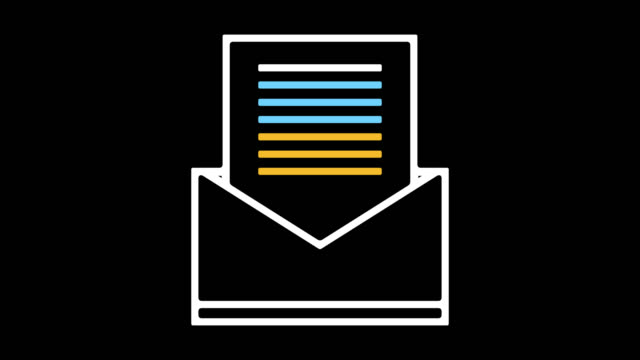 Email Sign Up Line Icon Animation with Alpha