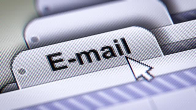 e-post - skicka datormeddelande bildbanksvideor och videomaterial från bakom kulisserna