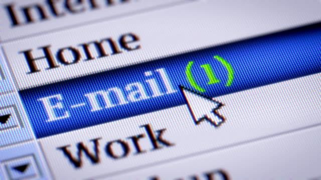e-mail - e mail stock-videos und b-roll-filmmaterial
