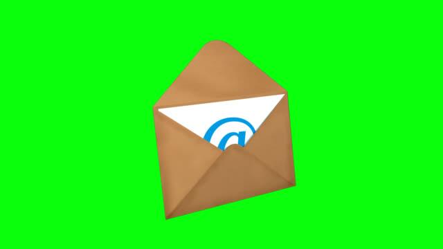 email with green screen - kuvert bildbanksvideor och videomaterial från bakom kulisserna