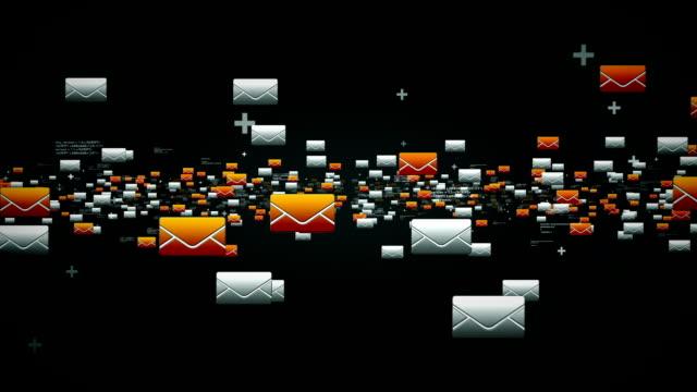 e-maile czarny - phishing filmów i materiałów b-roll