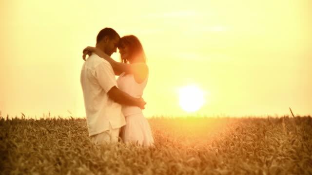 HD: Embracing In A Wheat Field video