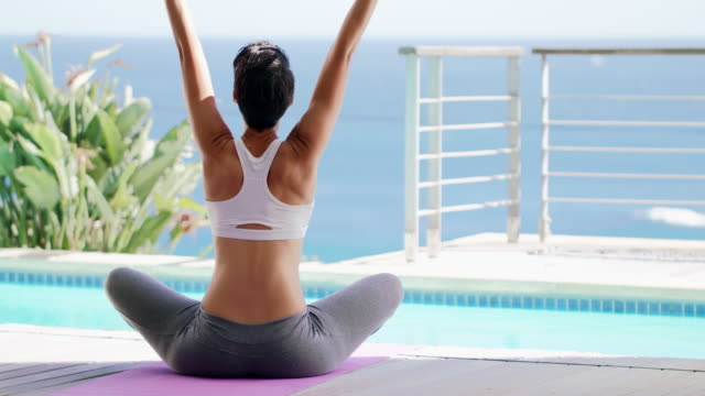 Embracing the morning through yoga video