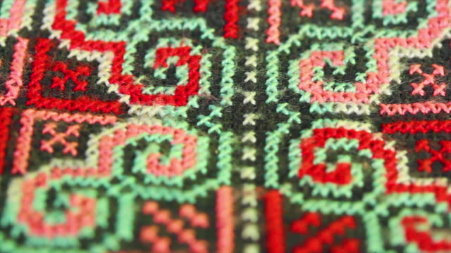 Embroidery Handmade Product by local people in Thailand video