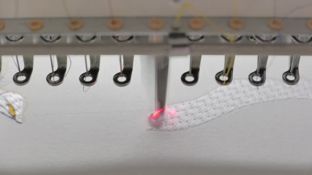 Embroidery machine is used to create patterns on textiles video