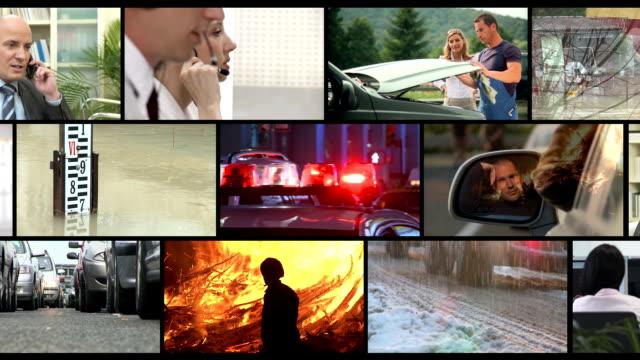 hd montage: emergency call - first responders stok videoları ve detay görüntü çekimi