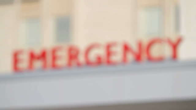 Emergency Center Sign - Rack Focus video